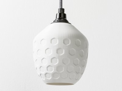 Honeycomb hanglamp wit